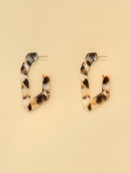 Геометрические серьги-полукольца - фото 1