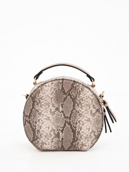 Круглая сумка из искусственной кожи - фото 2