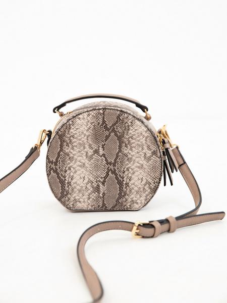 Круглая сумка из искусственной кожи - фото 4
