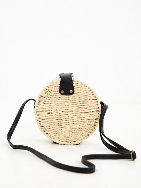 Плетеная сумка на длинном ремешке - фото 2