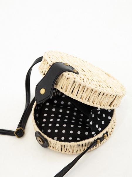 Плетеная сумка на длинном ремешке - фото 4