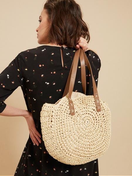 Плетеная пляжная сумка