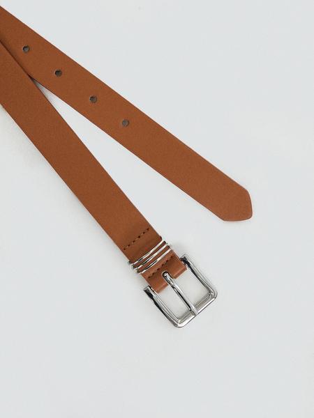 Ремень с металлической пряжкой - фото 3