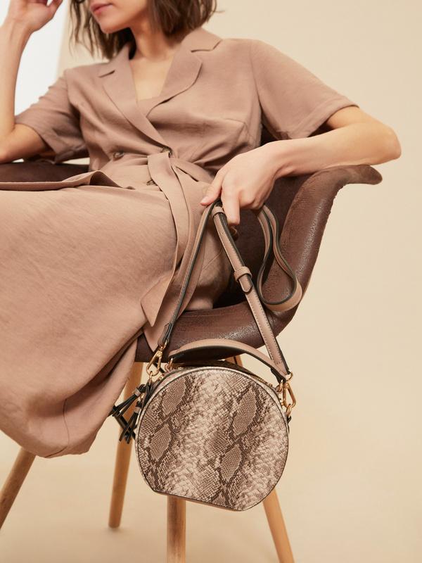 Круглая сумка из искусственной кожи