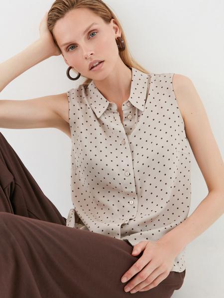 Блузка в мелкий горох - фото 1