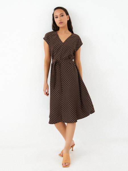Струящееся платье-миди - фото 1
