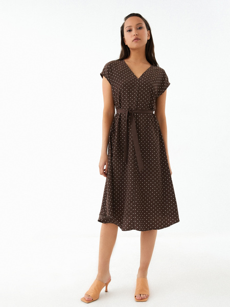 Струящееся платье-миди - фото 4