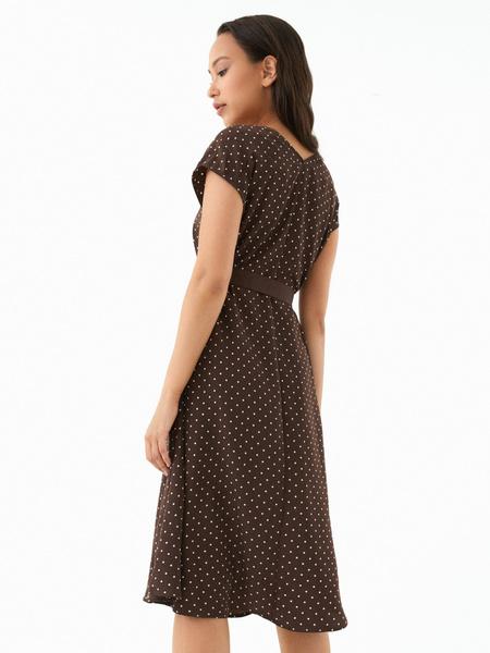 Струящееся платье-миди - фото 5