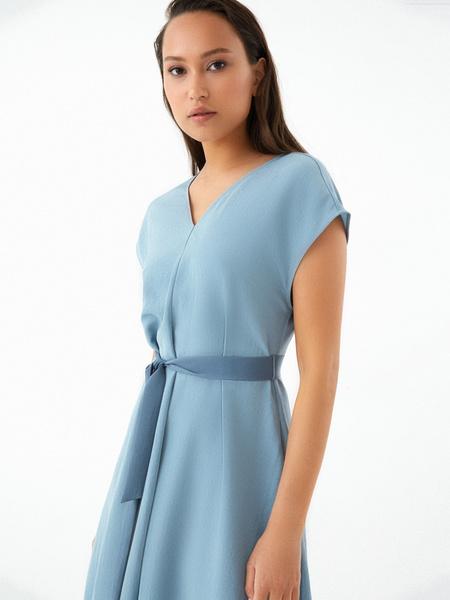 Струящееся платье-миди - фото 2