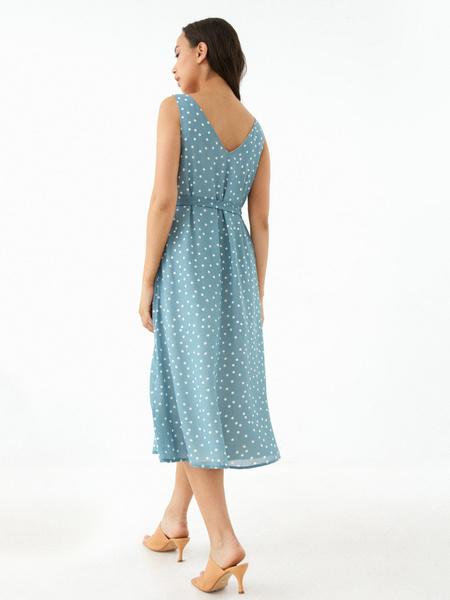 Платье-миди на поясе - фото 5