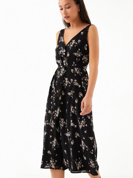 Платье-миди на поясе - фото 2