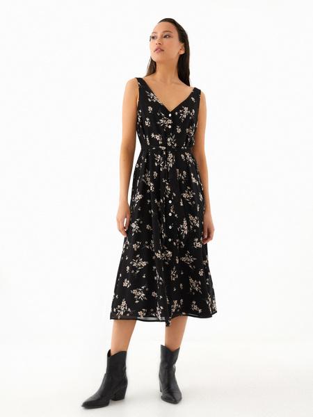Платье-миди на поясе - фото 4