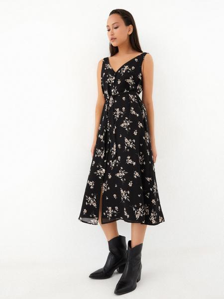 Платье-миди на поясе - фото 7