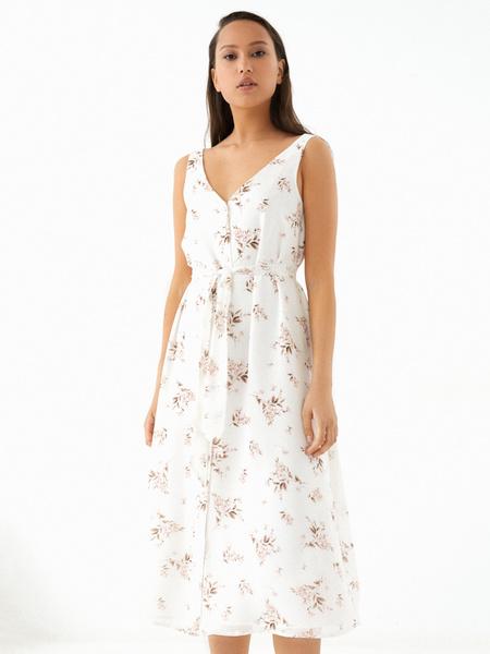 Платье-миди на поясе - фото 1