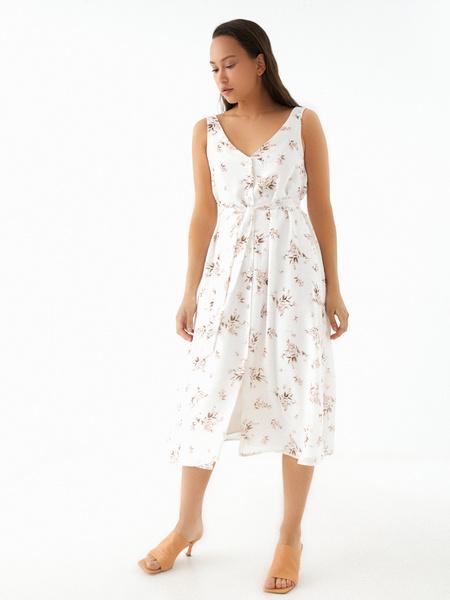Платье-миди на поясе - фото 6