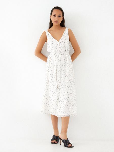 Платье-миди на поясе
