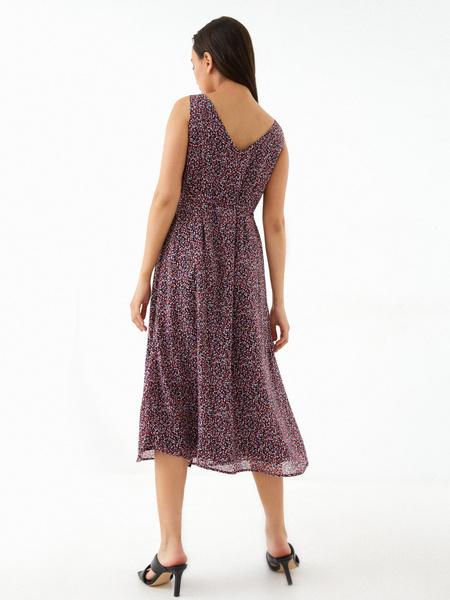 Платье-миди на поясе - фото 8