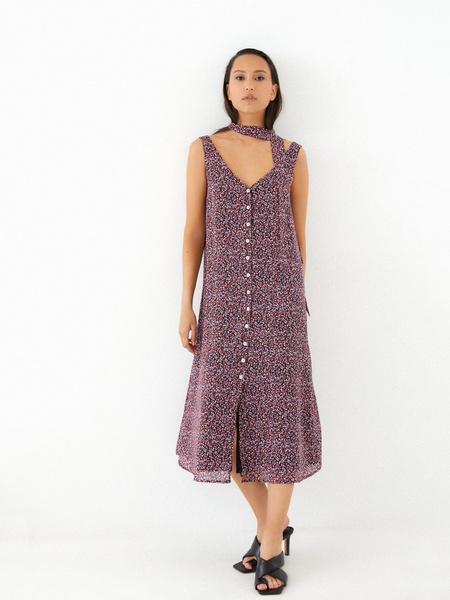Платье-миди на поясе - фото 9