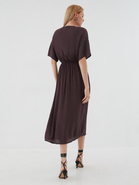 Платье-миди с запахом - фото 6