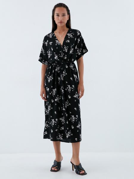 Платье-миди с запахом - фото 2