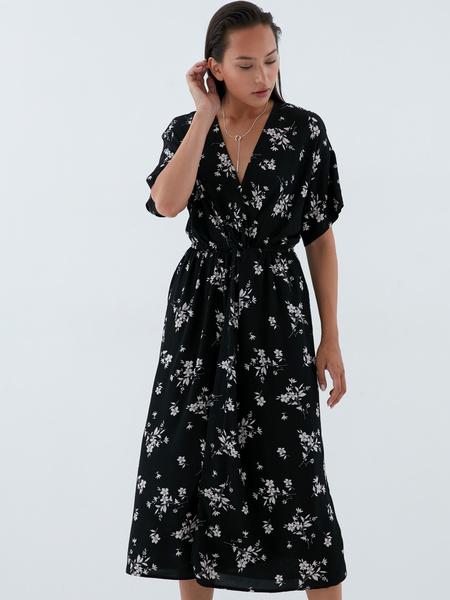 Платье-миди с запахом - фото 8