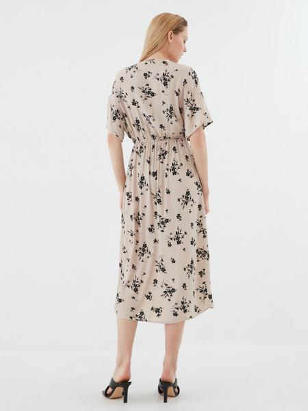 Платье-миди с запахом - фото 5