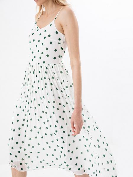 Платье с плиссированной юбкой - фото 2