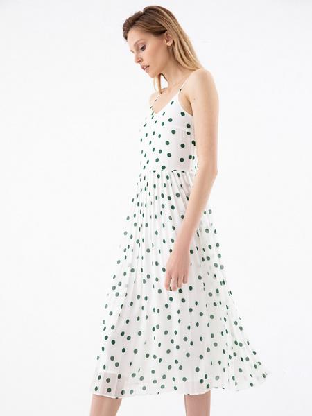 Платье с плиссированной юбкой - фото 4