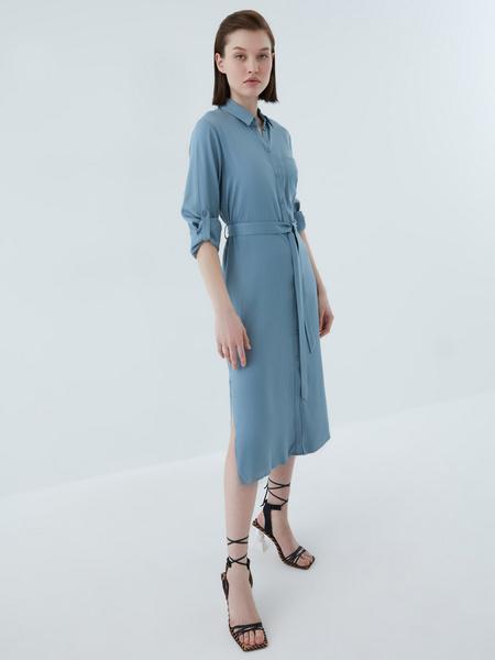 Платье-рубашка - фото 12
