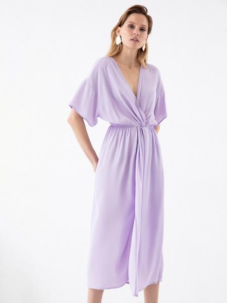 Платье-миди с запахом - фото 1
