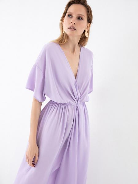 Платье-миди с запахом - фото 4