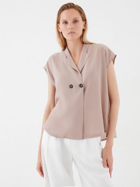 Блузка с пуговицами - фото 2