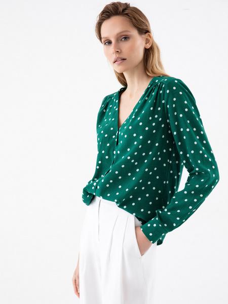 Блузка в горошек - фото 1