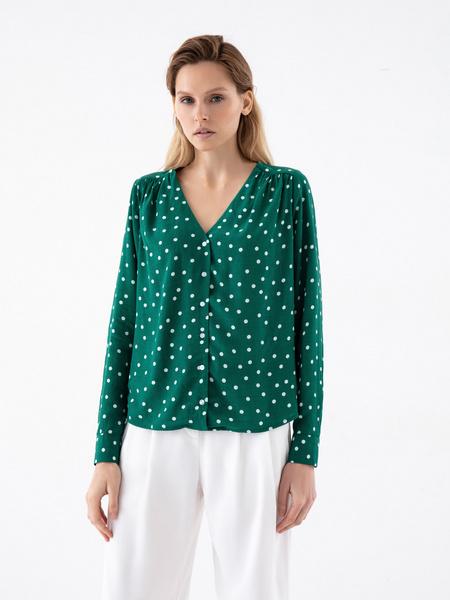 Блузка в горошек - фото 2