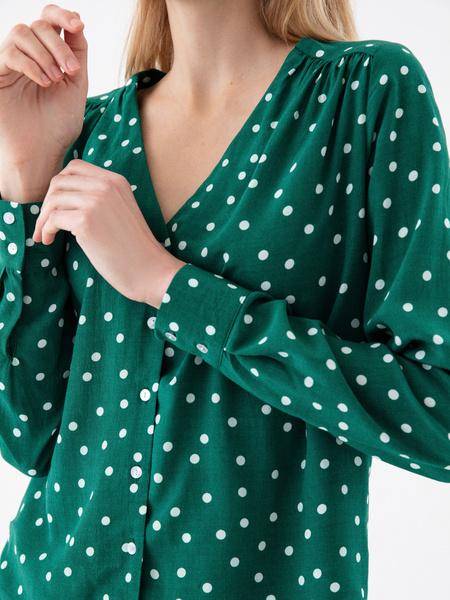 Блузка в горошек - фото 3