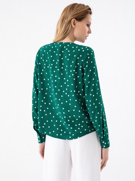Блузка в горошек - фото 4