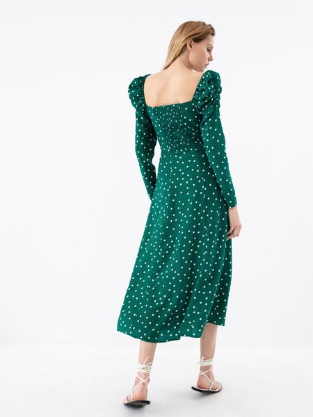 Платье с рукавами-фонариками - фото 8
