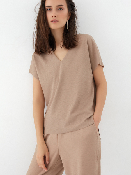 Блузка в рубчик - фото 1