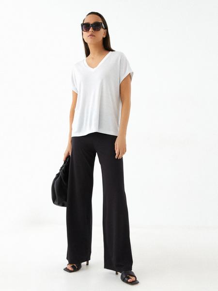 Прямые брюки со шнурком