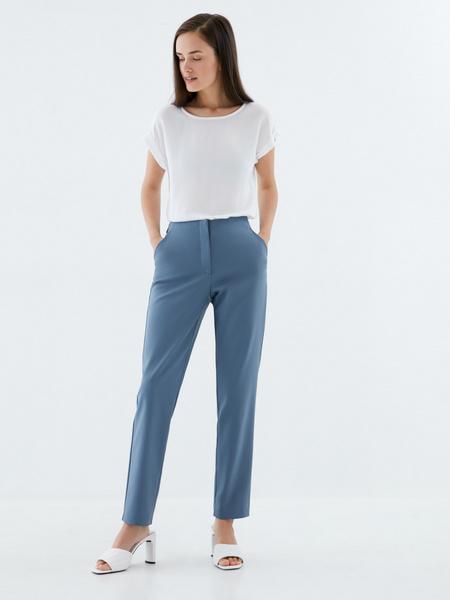 Зауженные брюки из хлопка - фото 1