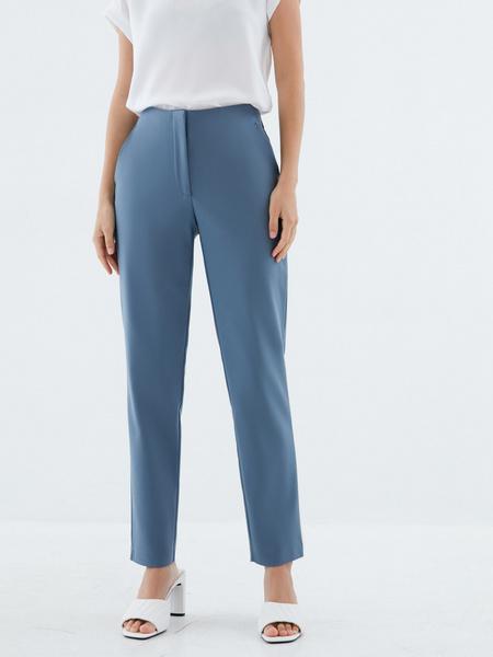 Зауженные брюки из хлопка - фото 2