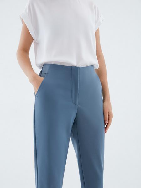 Зауженные брюки из хлопка - фото 3