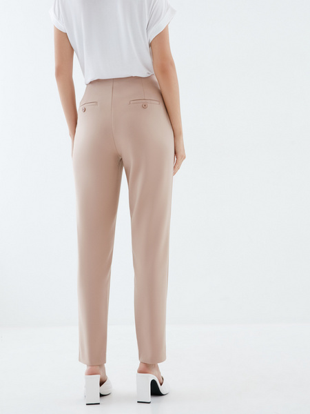 Зауженные брюки из хлопка - фото 4