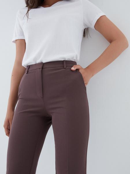 Зауженные брюки с карманами - фото 3