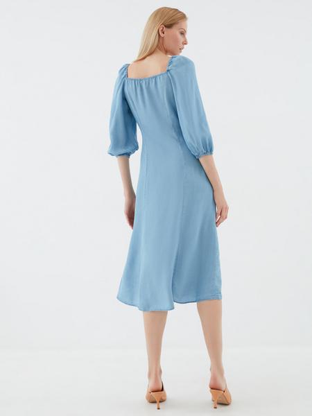 Джинсовое платье с 3/4 - фото 5