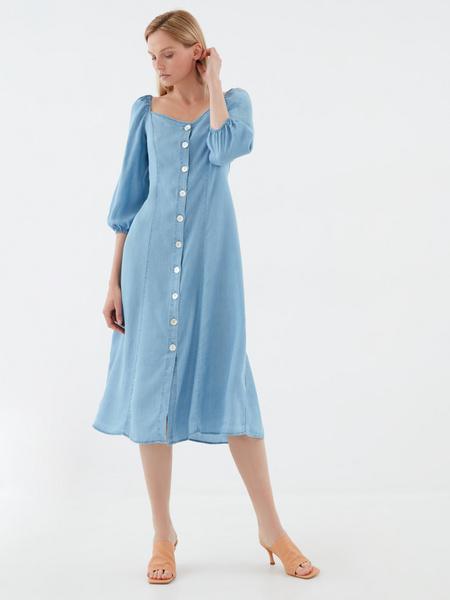 Джинсовое платье с 3/4 - фото 6