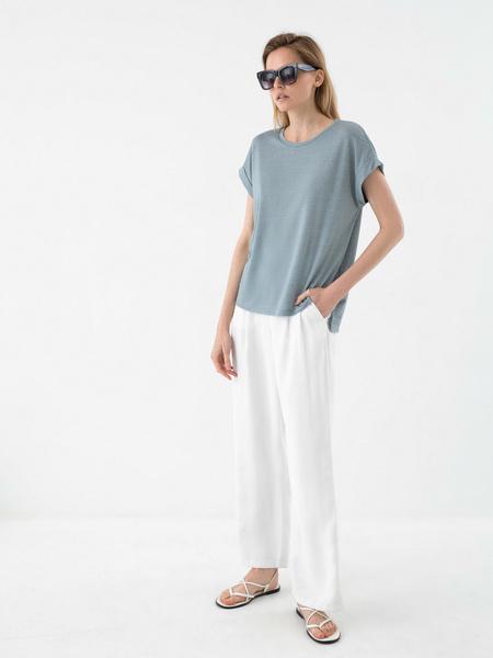 Блузка с люрексом - фото 6