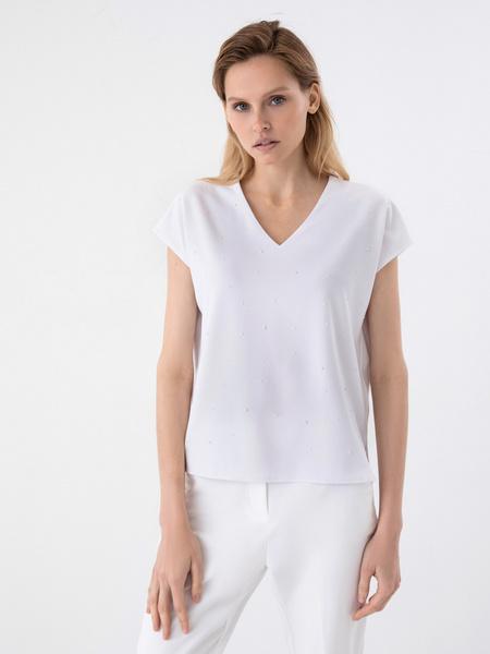 Блузка с бусинами - фото 2