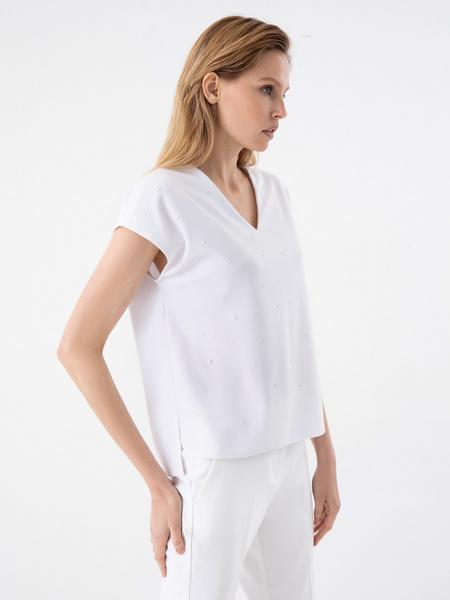 Блузка с бусинами - фото 4