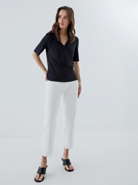 Блузка с V-образным вырезом - фото 6